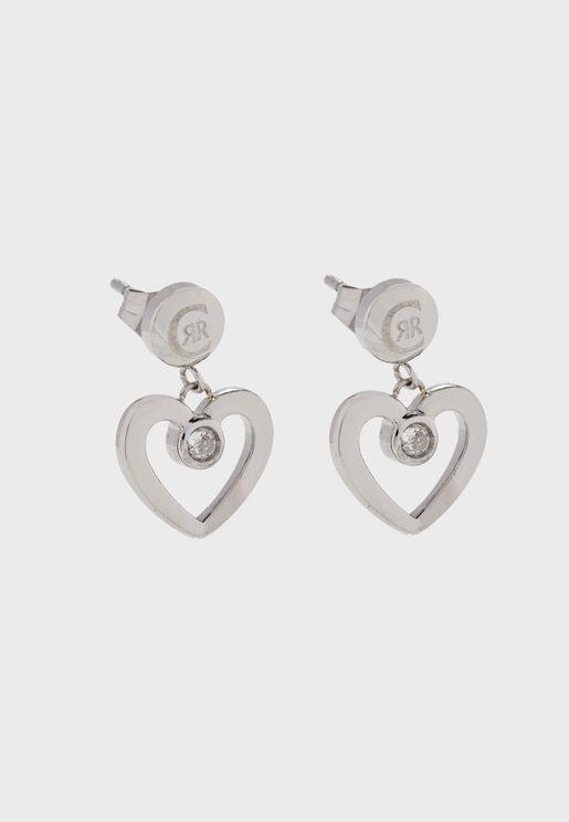 Heart Shape Swarovski Stone Earrings