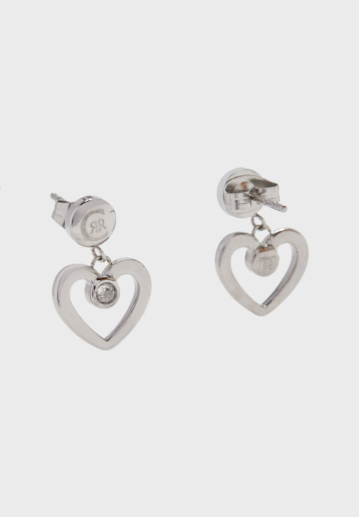 Heart Shape Swarovski Stone Earrings