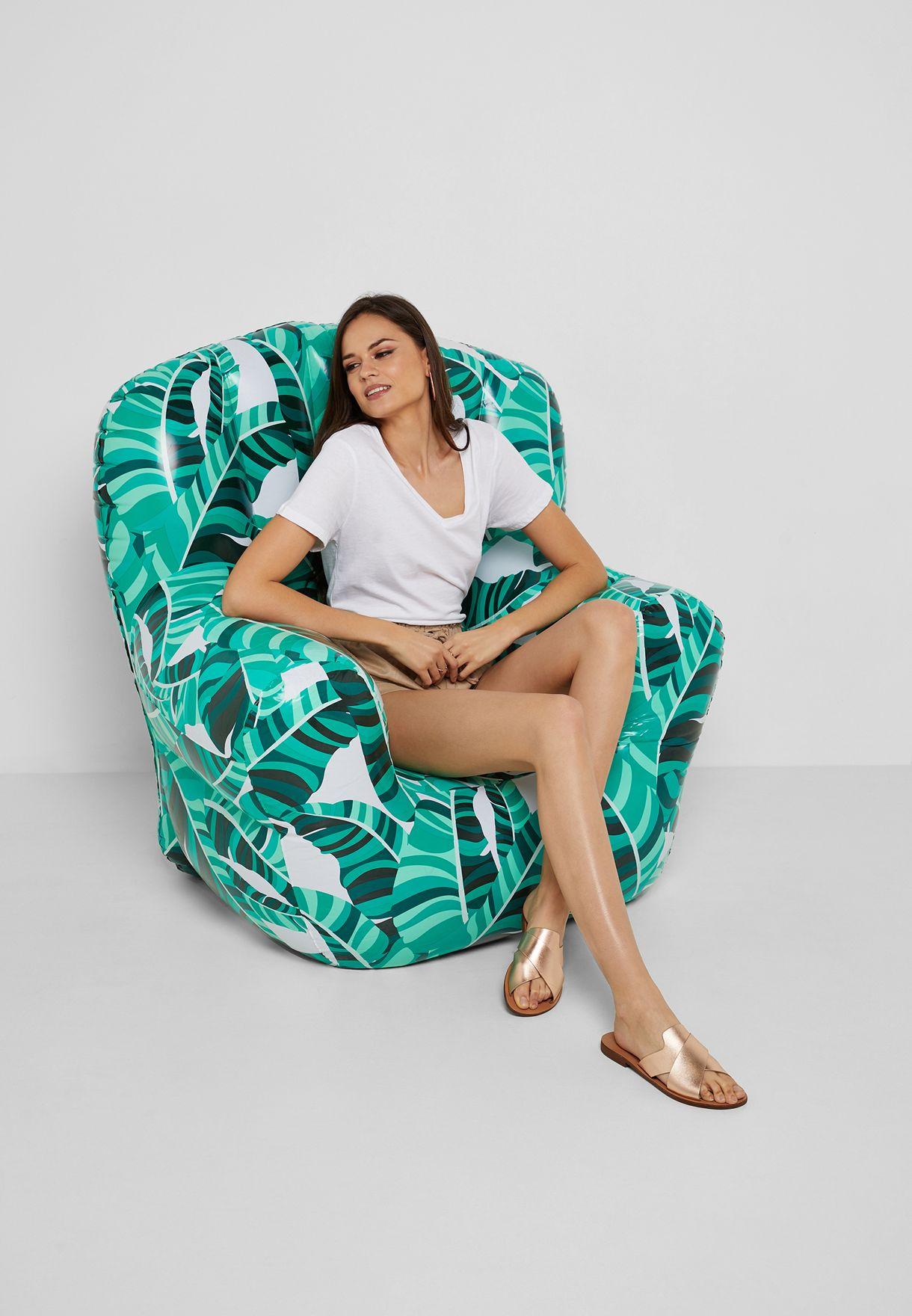 كرسي مطبع قابل للنفخ