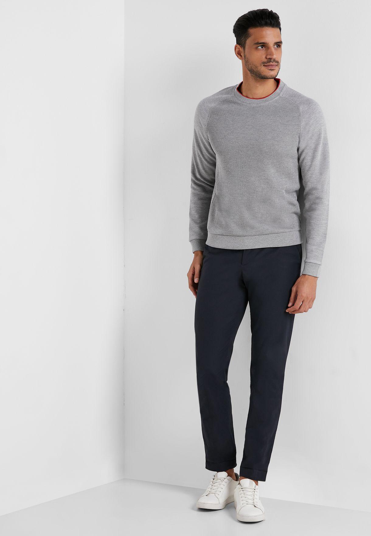 Ribbed Front  Sweatshirt
