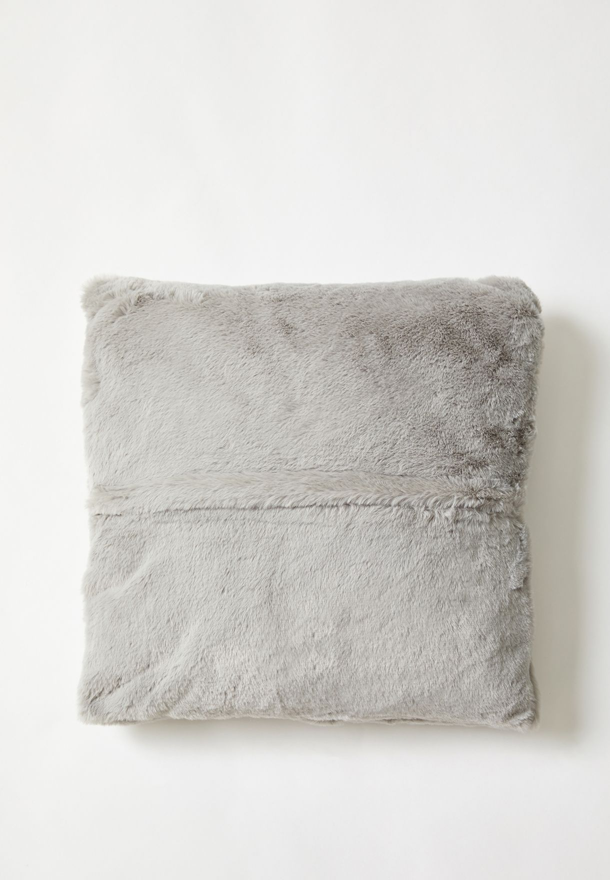 Grey Fluffy Cushion With Insert 45x45 cm