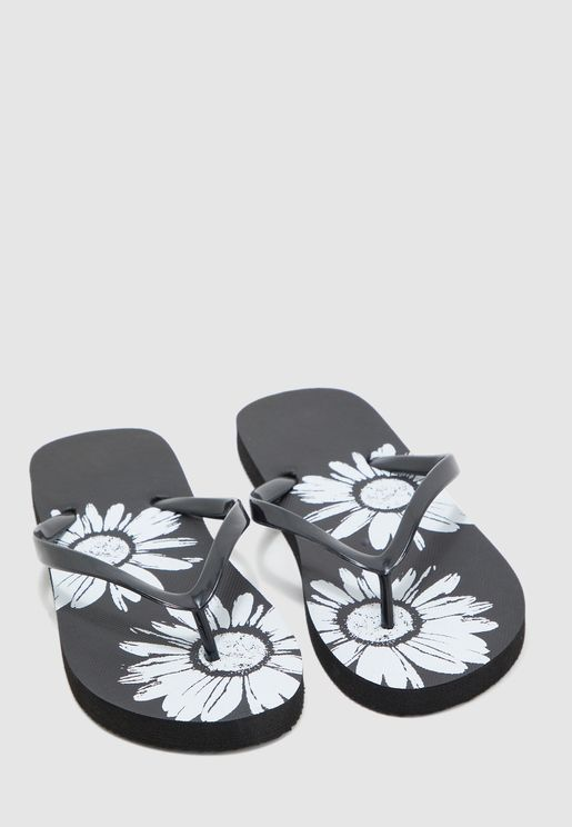 Sunflower Printed Flip Flops