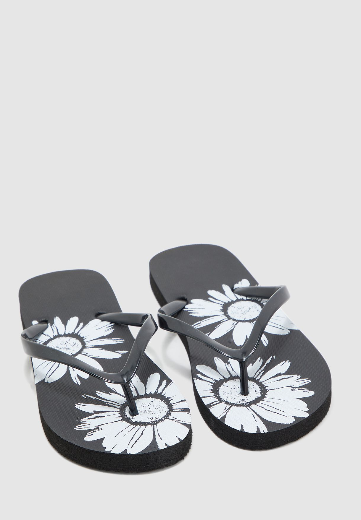 Sunflower Printed Flip Flops