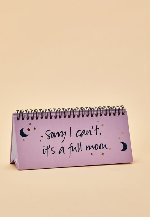 Sorry I Can't It's A Full Moon Planner