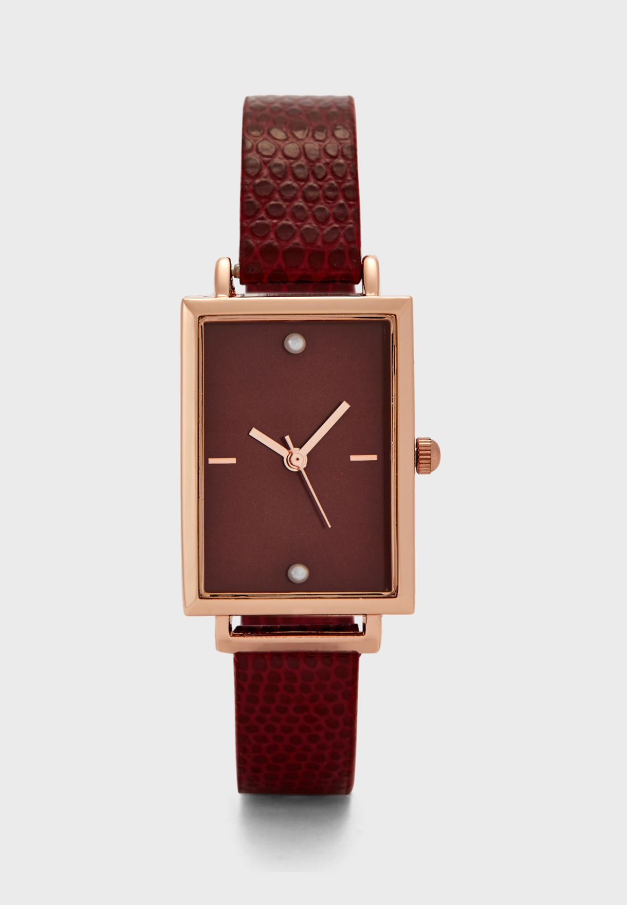 Pearl Detail Rectangle Watch