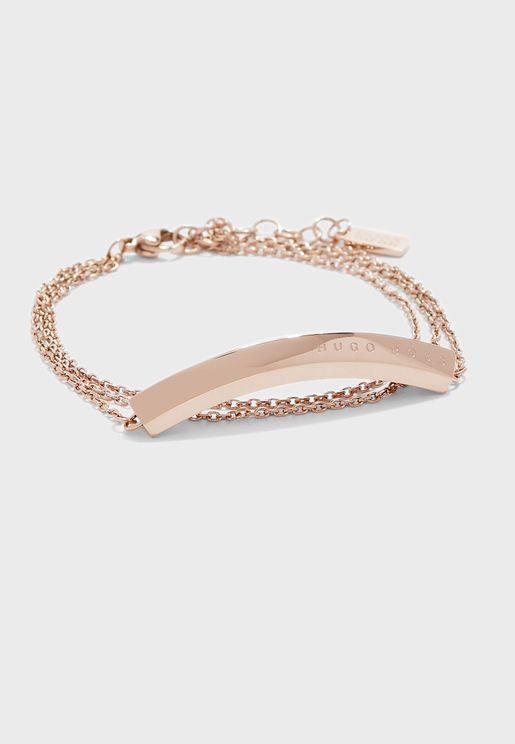 1580090 Insignia Rooftop Triple Chain Bracelet