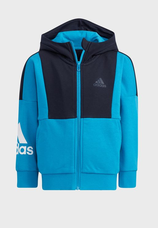 Youth Badge Of Sport Knit Hooded Jacket