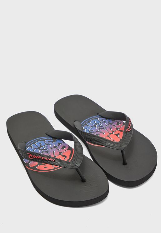 Brushed Wettie Logo Flip Flops