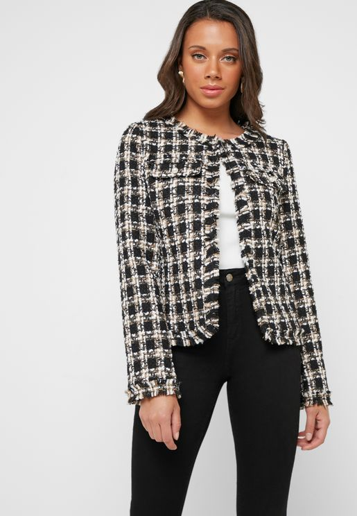 huge discount e19fa 31c64 Checked Boucle Jacket