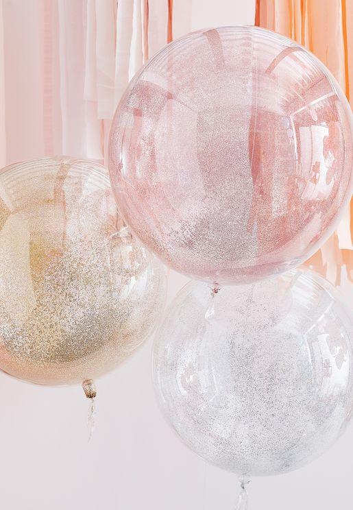 مجموعة بالونات مزينة بقصاصات ملونة