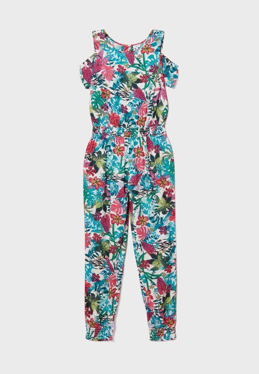Kids Floral Jumpsuit