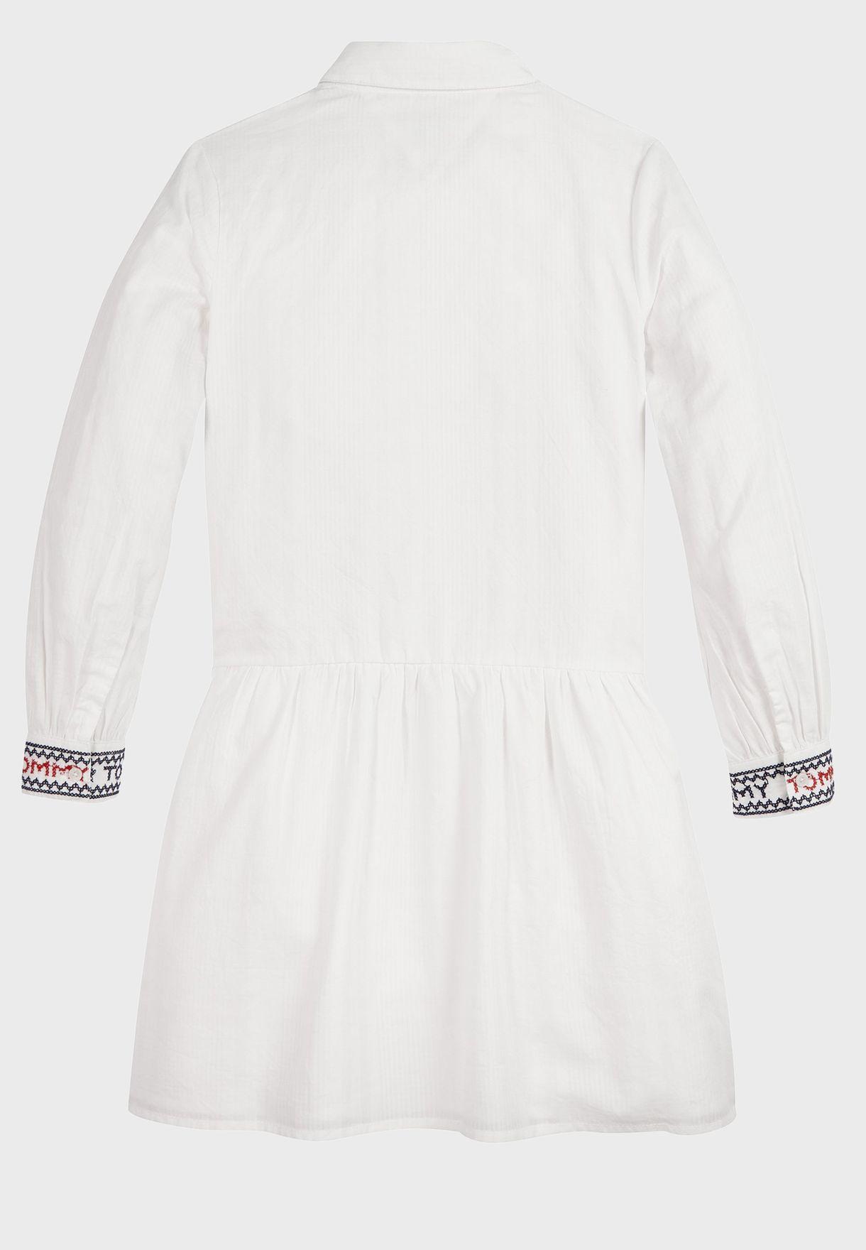 فستان بخطوط للاطفال