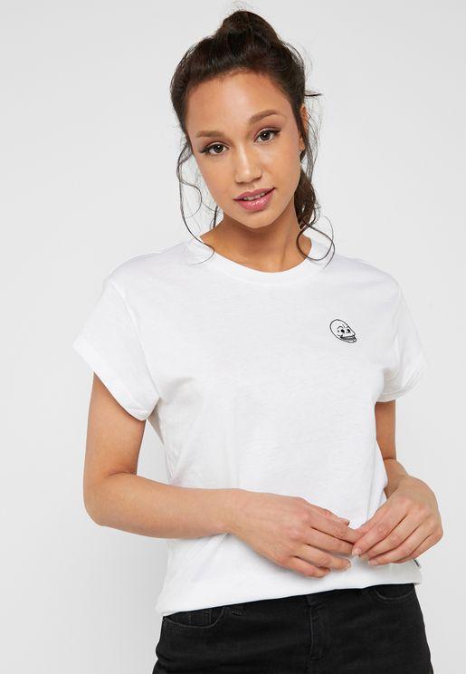 Roll Sleeve Logo T-Shirt