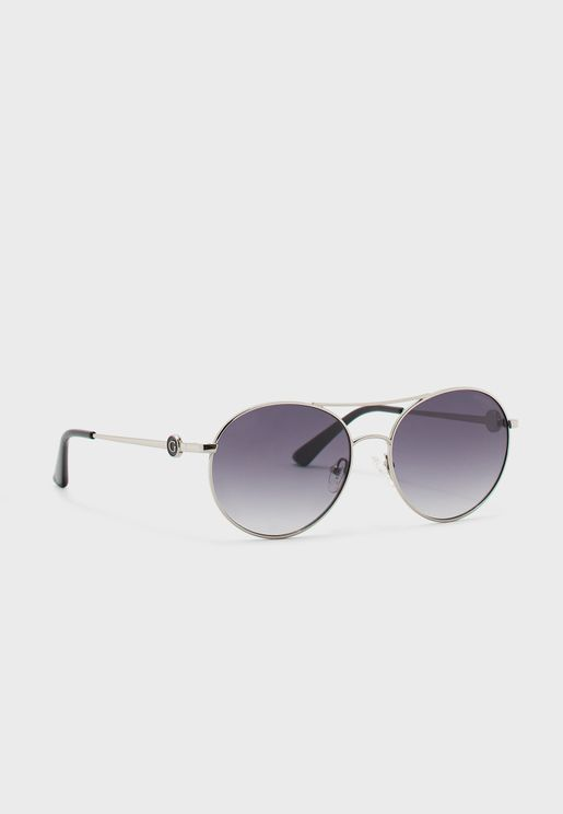 نظارة شمسية بعدسات دائرية