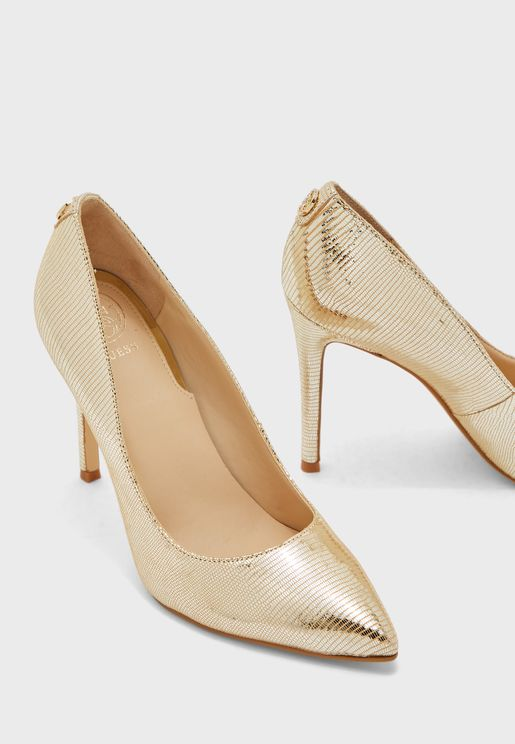 Crew High Heel Pump - Gold