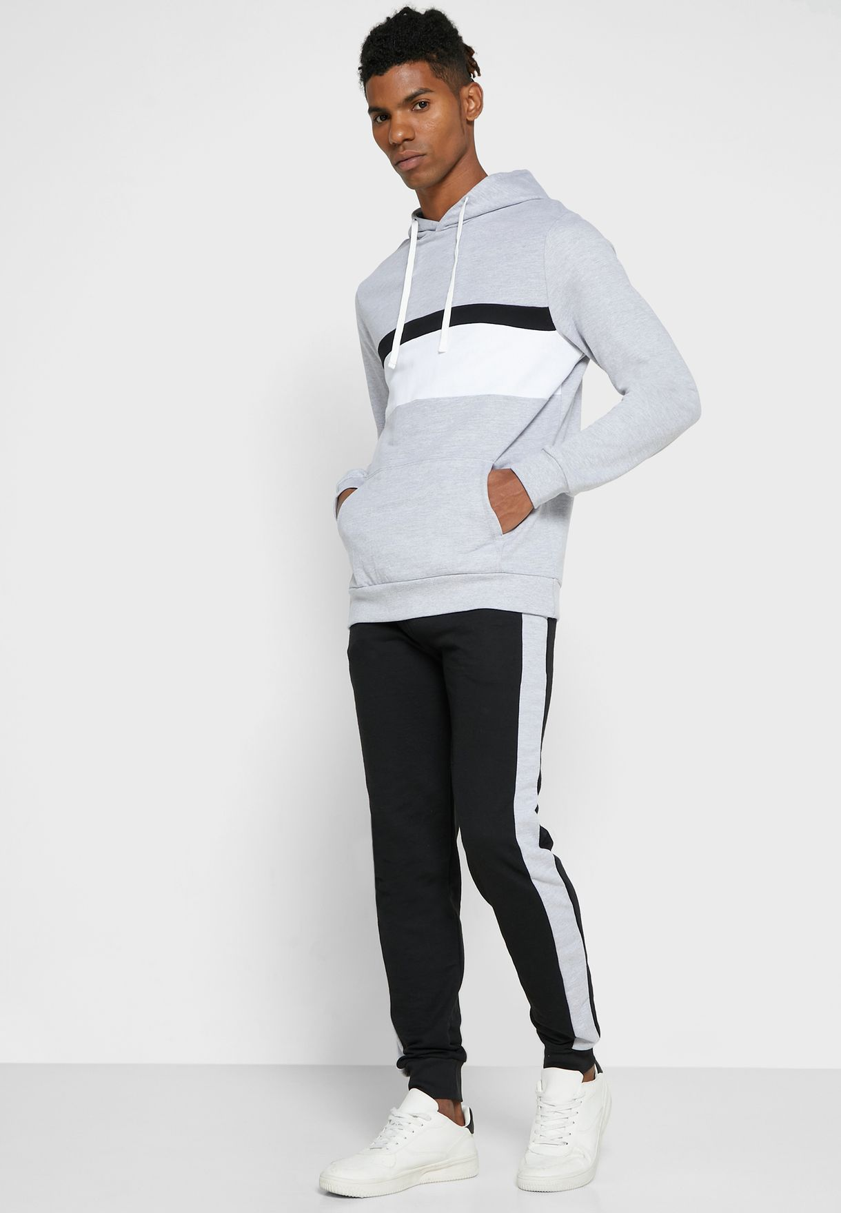 Colourblock Tracksuit Set