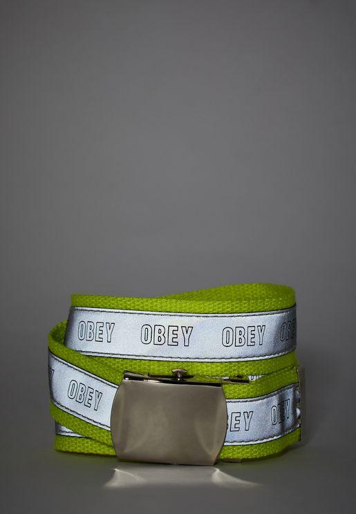 حزام بطبعة شعار الماركة