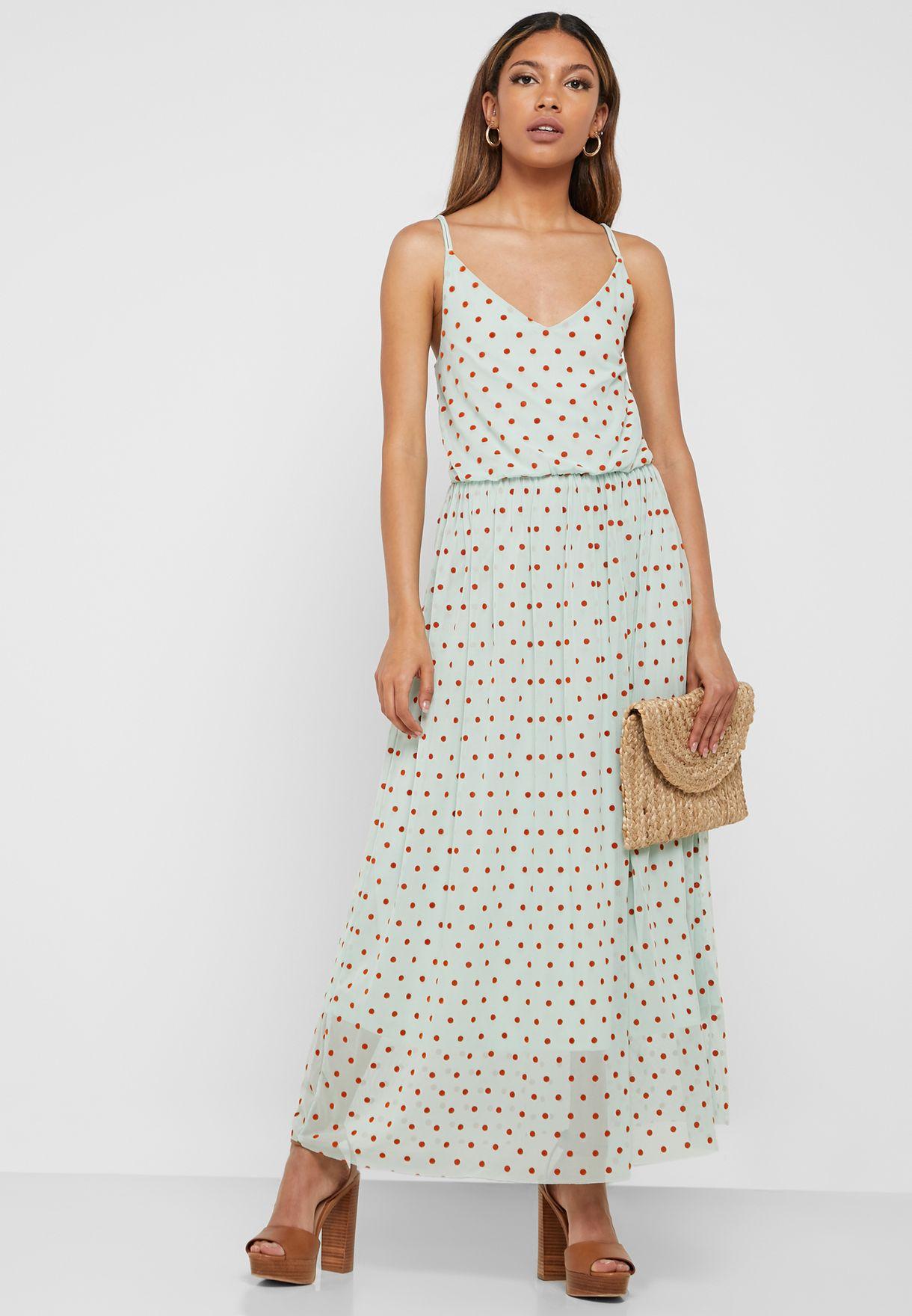 Polka Dot Cami Strap Dress