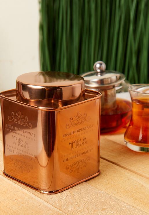 Copper Finish Tea Canister