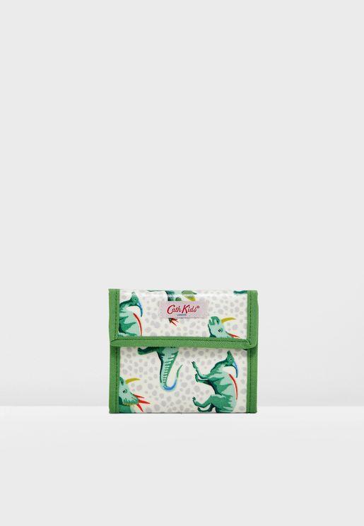 محفظة مزينة بطباعة ديناصور