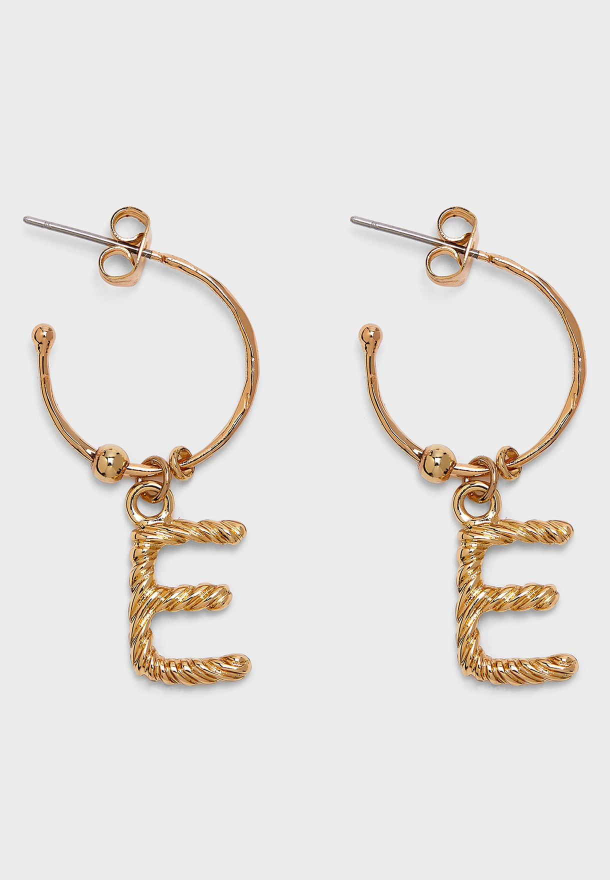"Magda Hoop Earrings ""E"""