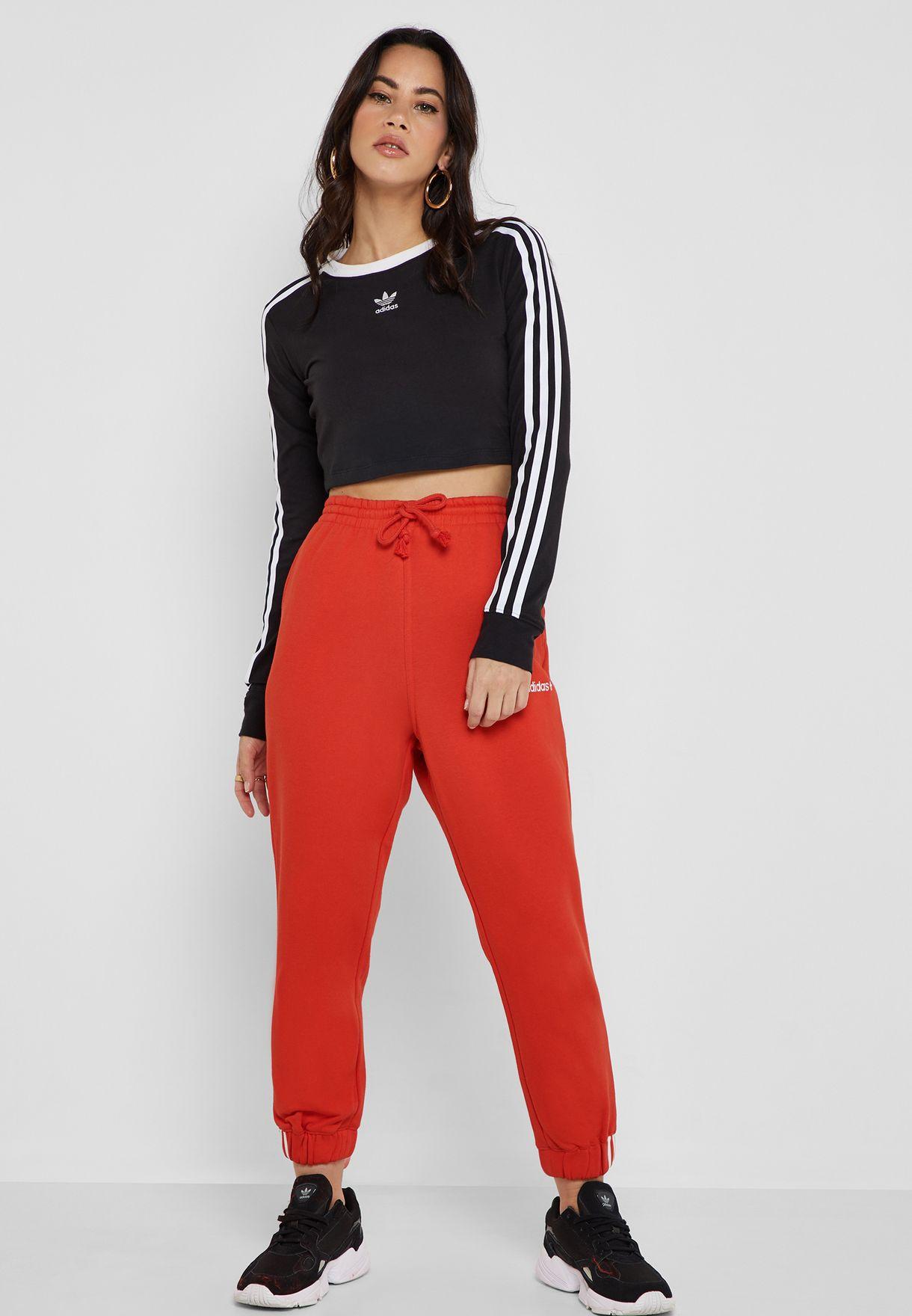 adidas Originals red Coeeze Sweatpants