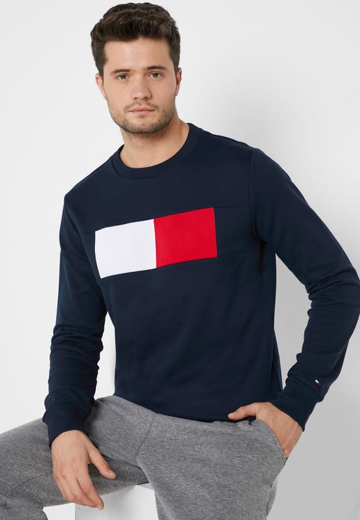 Chest Logo Flag  Sweatshirt