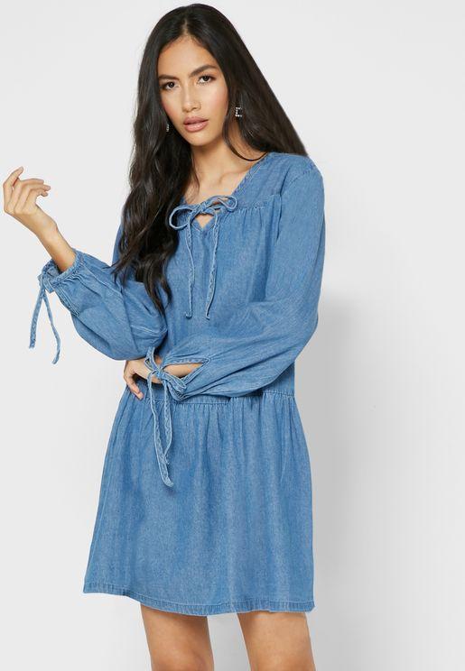فستان ميني جينز