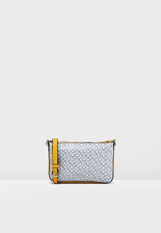 Chain Detail Printed Crossbody