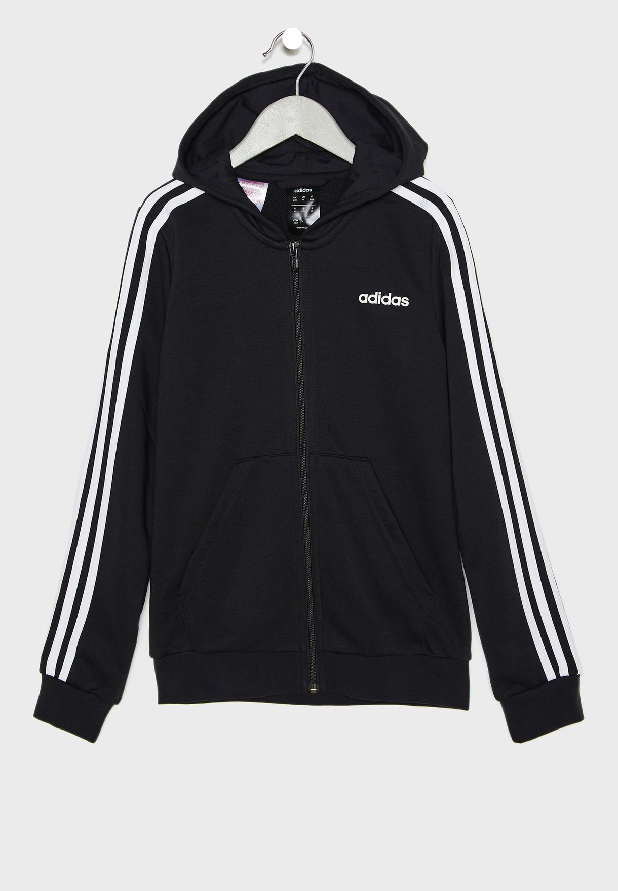 Youth Essential 3 Stripes Hoodie