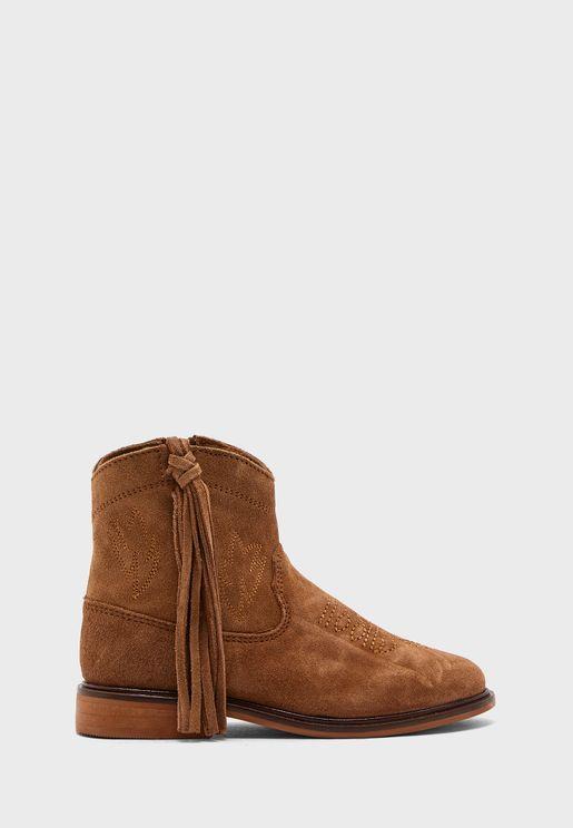 Kids Folk Ankle Boot