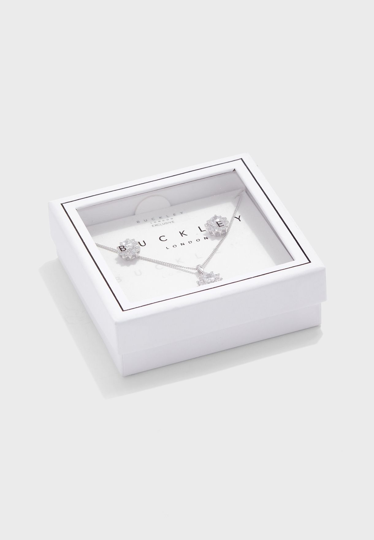 Starburst Stud Earrings+Pendant Necklace Set