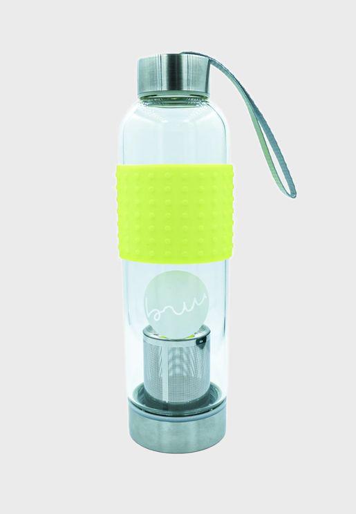 Tea To Go - 500Ml Glass Bottle Neon Yellow