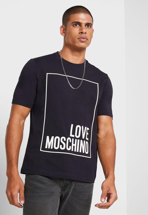 Logo Box Crew Neck T-Shirt