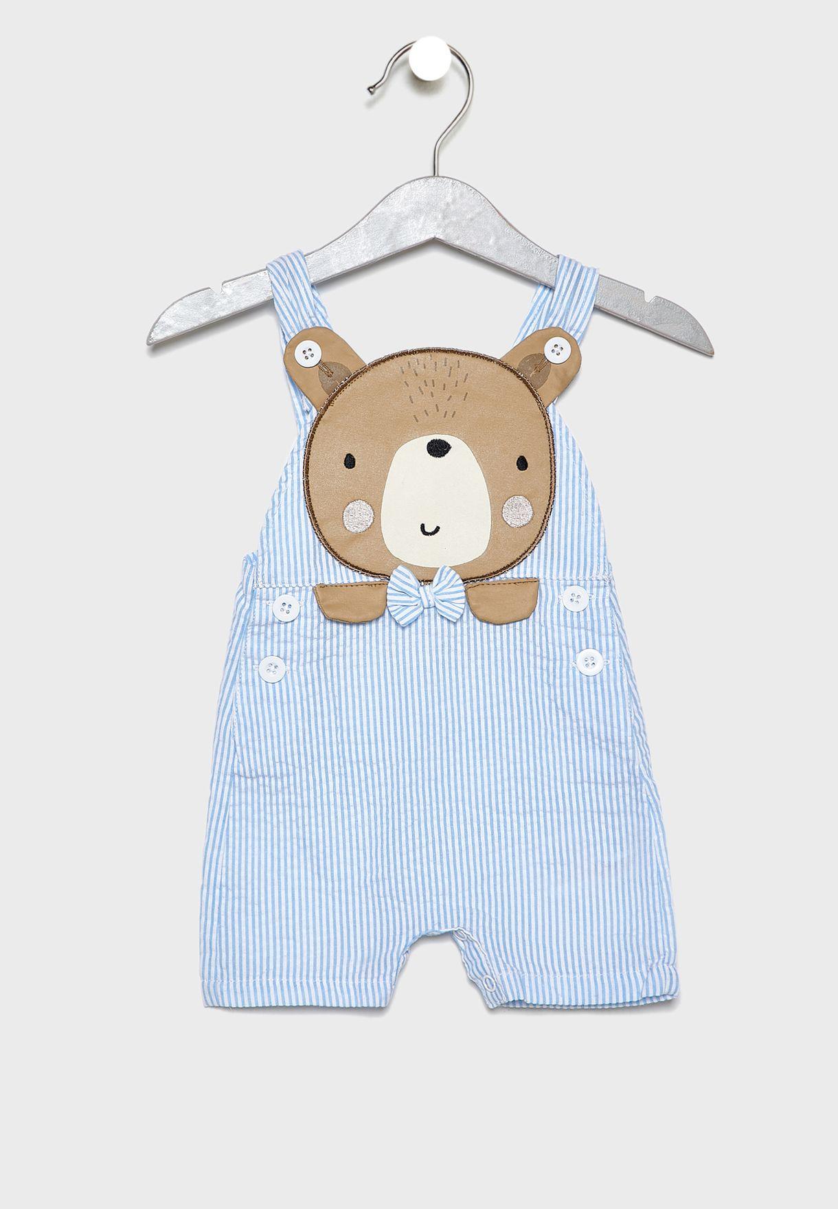 Infant Bear T-Shirt + Dungaree Set