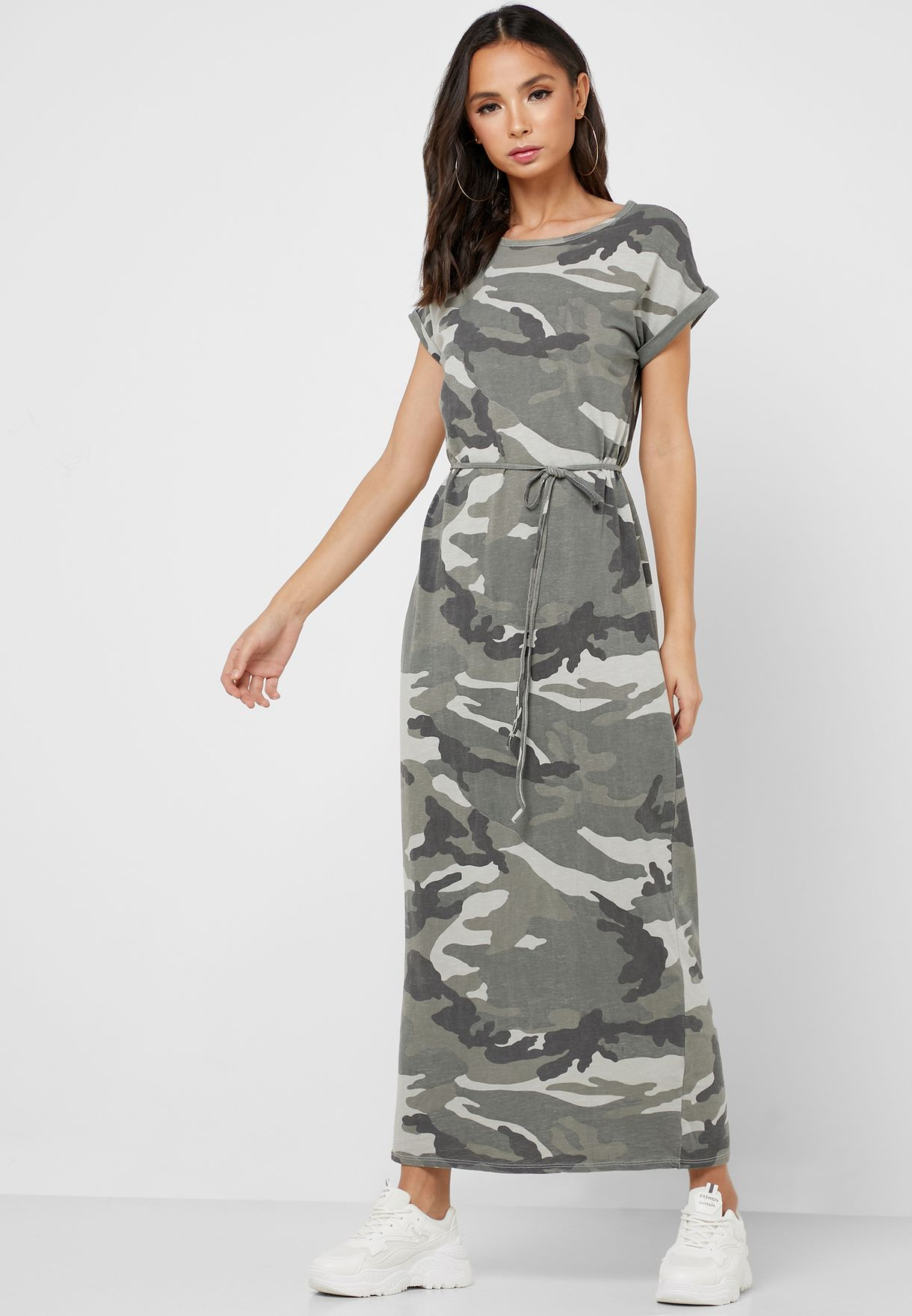 فستان مطبع باربطة