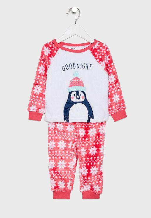 Kids Penguin Pyjama Set