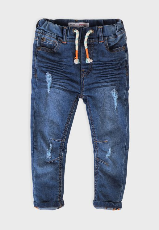 Kids Knitted Denim Jeans