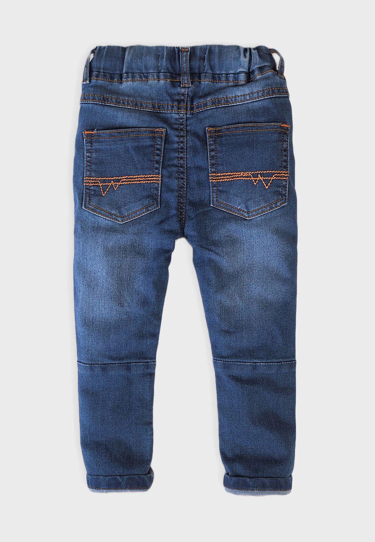 Kids Knitted Denim Jeans