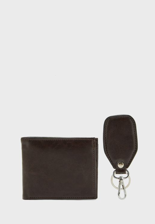 Wallet + Keychain Gift Set