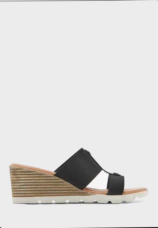 Double Strap Mig Heel Sandal