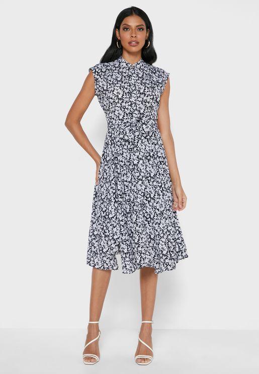 Donetta Floral Print Dress
