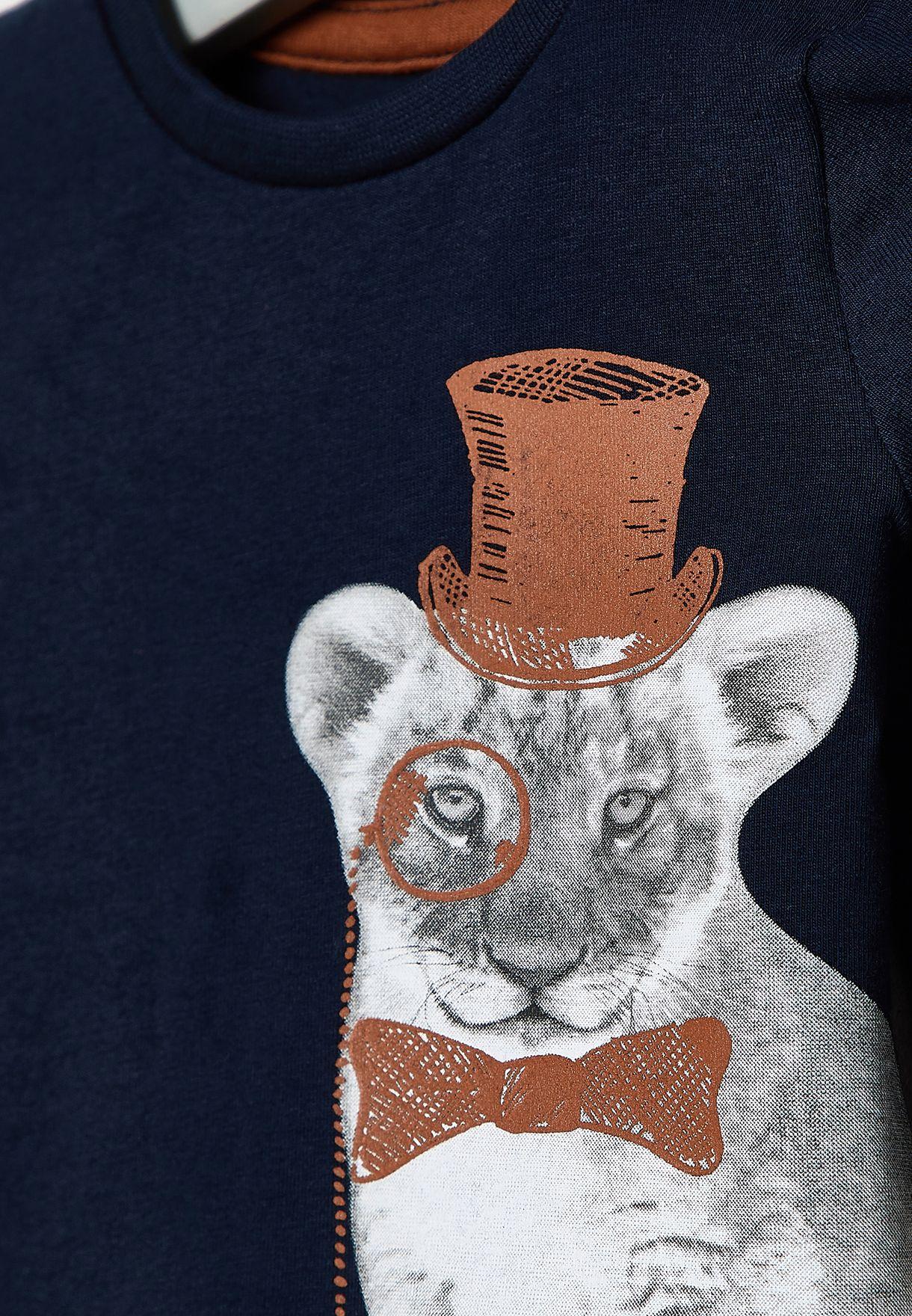 Infant Cat Graphic Top