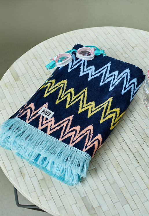 Kids Multi Chevron Beach Towel