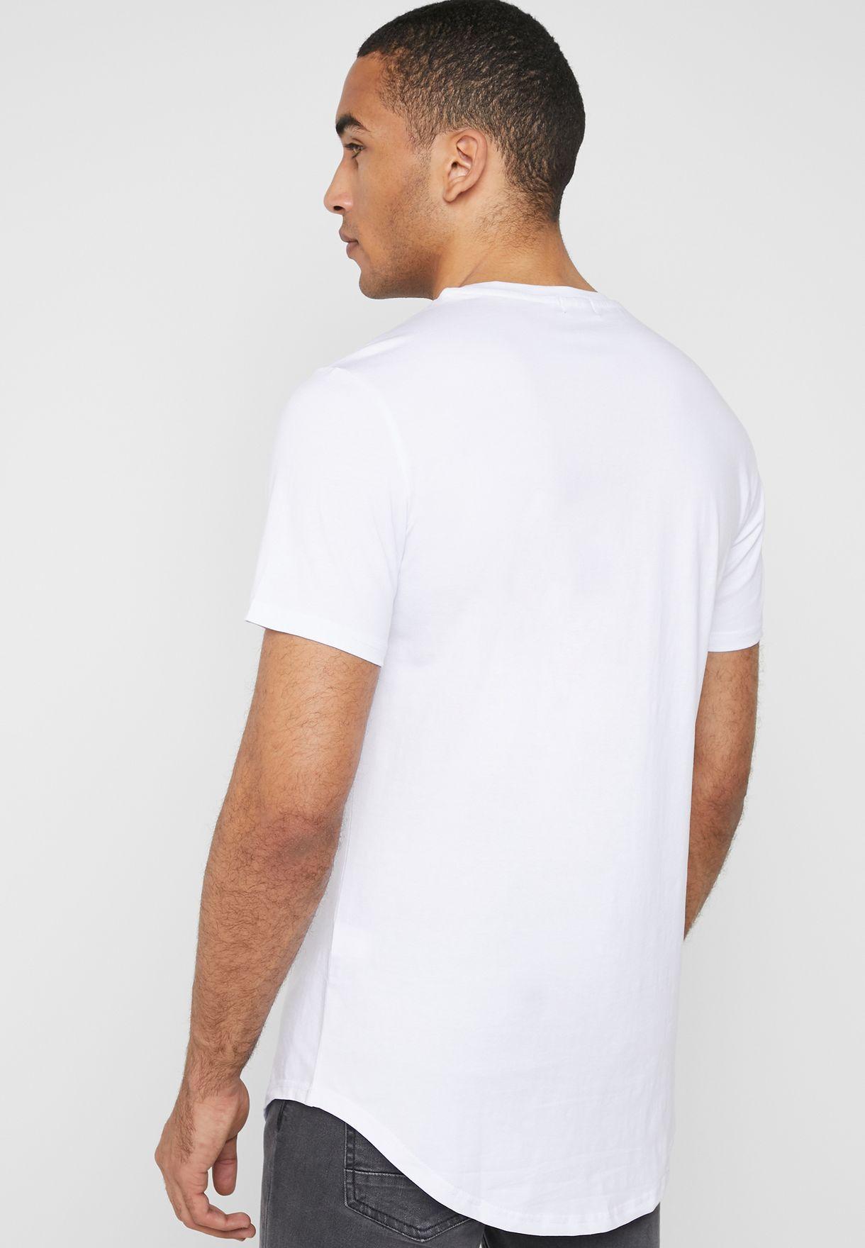 Rock Print Crew Neck T-Shirt