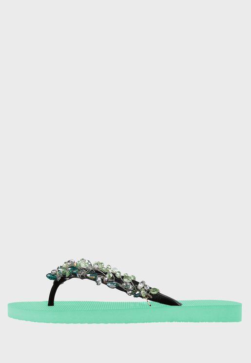 Embellished Flip Flop