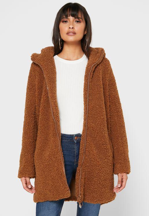 معطف طويل بطبعات