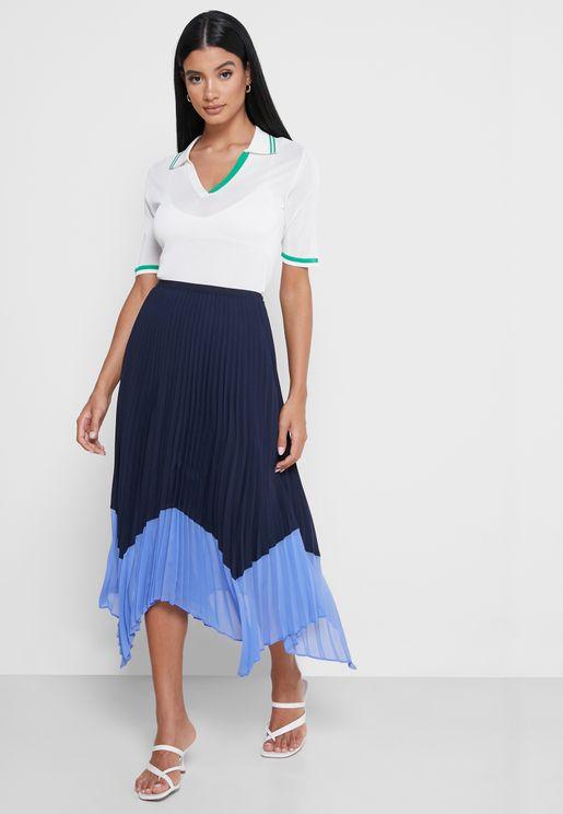 High Low Midi Skirt
