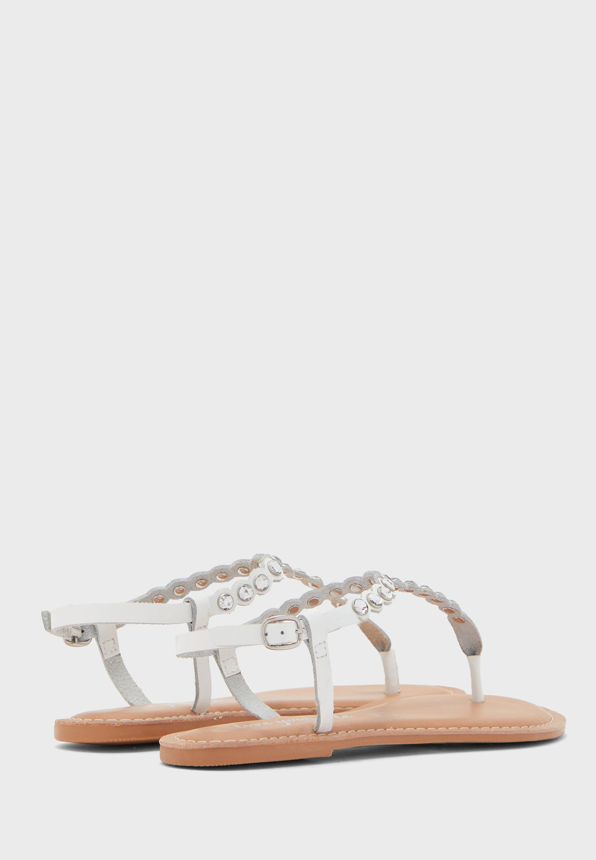 Felicity Jewelled Flat Sandal