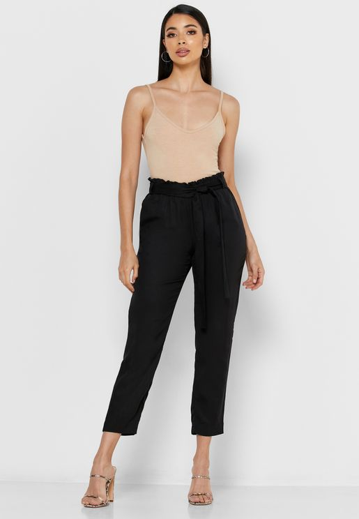 Belted Tailored Pants